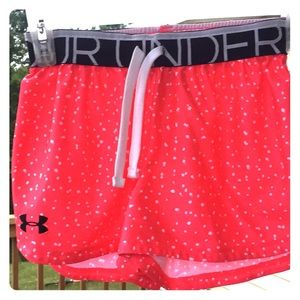 Pink under armor sport shorts